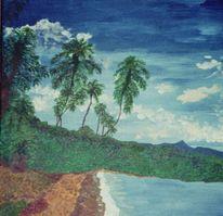 See, Strand, Karibikküste, Palmen