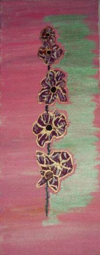 Blumen, Orchidee, Malerei, Pflanzen