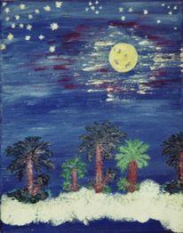Meer, Palmen, Nacht, Küste