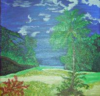 Karibik, Baum, Regenwaldidylle, Malerei
