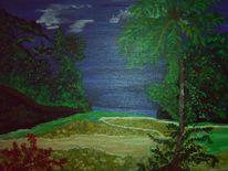 Regenwaldidylle, Karibik, Malerei
