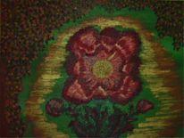 Stiefmütterchen, Blumen, Malerei, Pflanzen