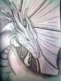 Drache, Zeichnungen, Fantasie