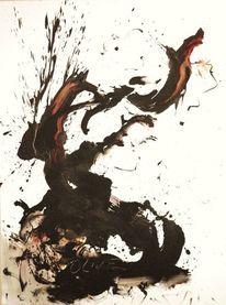 Ölmalerei, Abstrakt, Olivenbaum, Malerei