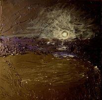Mond mondaufgang meer, Malerei