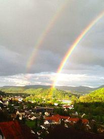 Himmel, Landschaft, Regenbogen, Fotografie