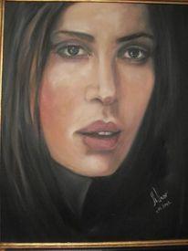 Braun, Mädchen portret, Mistyk, Frau