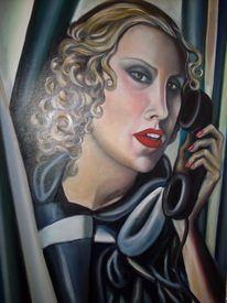 Gesicht, Frau, Potrtrait, Telefon