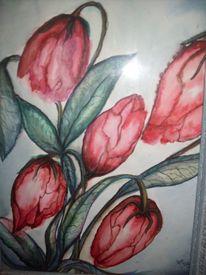 Rot, Traurig, Blau, Blumen