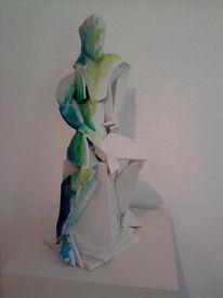 Porzellan, Skulptur, Männerakt, Akt