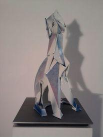 Tierplastik, Porzellan, Skulptur, Hund
