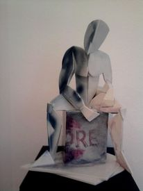 Porzellan, Akt, Skulptur, Männerakt