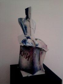 Männerakt, Porzellan, Akt, Skulptur