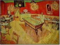 Vincent van gogh, Original aus 1888, Das nachtcafé, Malerei
