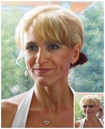 Ölmalerei, Portrait, Fotorealismus, Reproduktion