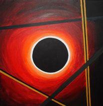 Sonne, Rot, Finster finsternis, Malerei