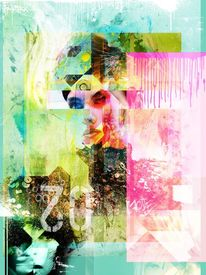 Illustration, Modell, Mixedmedia, Grafik