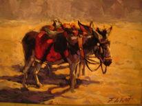 Frank de wit, Malerei, Donkey
