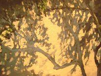 Landschaft, Shedes schatten, Malerei