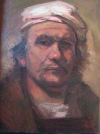 Selbstportrait, Portrait, Rembrandt, Arbeitszimmer
