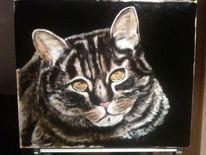 Katzenportrait, Malerei, Tiere