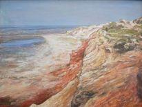 Landschaft, Morsum, Klippe, Ölmalerei