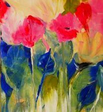 Malerei, Blumen, Blumenwiese