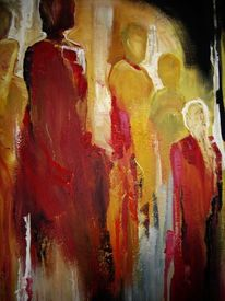 Gesellschaft ii, Malerei, Menschen, Gesellschaft