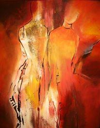 Menschen, Rot, Malerei, Girls