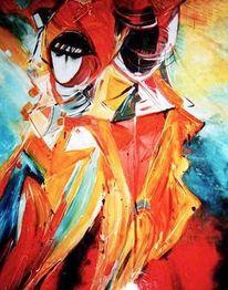 Karneval, Menschen, Venedig, Malerei