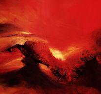 Malerei, Landschaft, Lava
