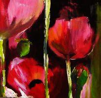 Mohn, Malerei, Blumen, Vi
