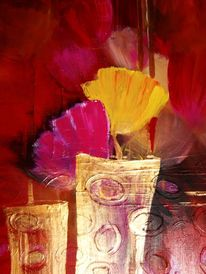 Malerei, Blumen, Pink