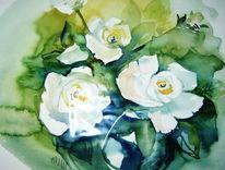 Aquarell, Blumen