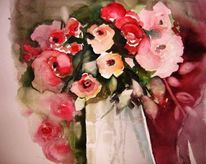 Rose, Aquarell, Blumen
