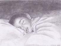 Kind, Schlaf, Zeichnungen, Portrait