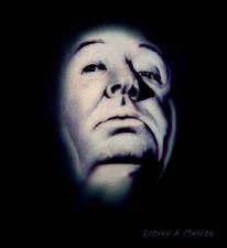 Film, Hitchcock, Kreide, Gesicht
