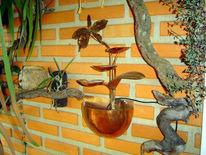 Kupfer, Brunnen, Kunsthandwerk, Wasserspiele