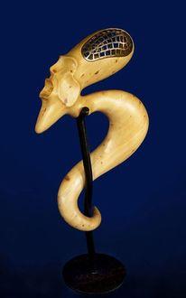 Surreale skulptur, Kunstvermittlung litzko, Bronze, Bad religion