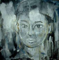 Weiß, Ölbild schwarz, Malerei