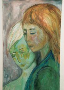 Ölbilder auf leinwnd, Öl frauenköpfe, Malerei, Menschen