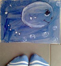 Gruß, Fisch, Moment, Malerei