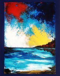 Spachteltechnik, Stimmung, Ölmalerei, Malerei