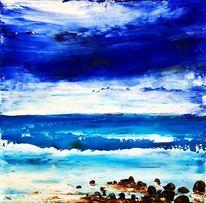 Spachteltechnik, Abstrakte landschaft, Ölmalerei, Malerei