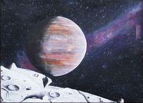 Planetensystem, Ausblick, Sturmflecken, Oberfläche