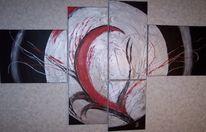 Aluminium, Abstrakt, Explosion, Rot schwarz