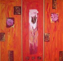 Modern, Floristik, Blumen, Malerei