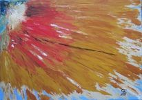 Abstrakt, Braun, Rot, Blau