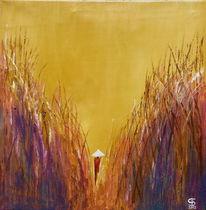 Acrylmalerei, Warme farben, Malerei