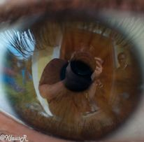 Spiegel, Augen, Braun, Fotografie